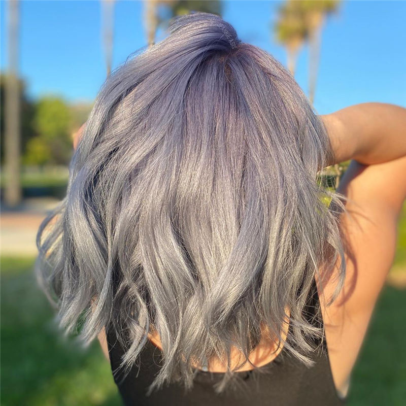 Stylish Grey Hair Ideas That Dont Make You Look Older 26