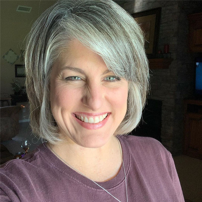 Stylish Grey Hair Ideas That Dont Make You Look Older 36