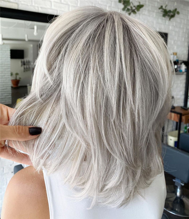 Stylish Grey Hair Ideas That Dont Make You Look Older 43