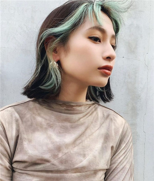 Green Blue Highlights