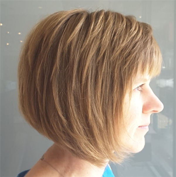 Amazing Layered Bob Hairstyles To Copy Asap 34