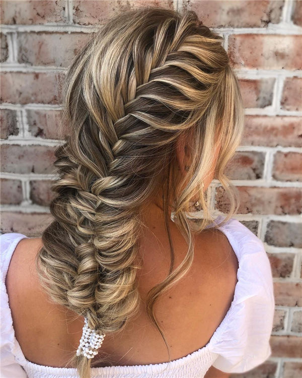 Blonde Fishtail Braids