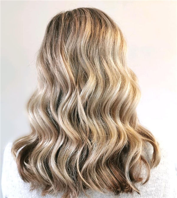 Blonde Waves for Think Hair