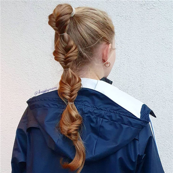 Bubble Ponytail Braids