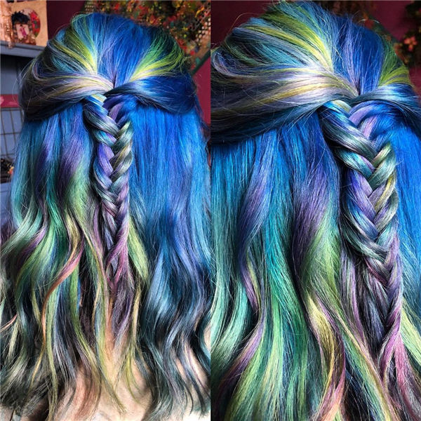 Colorful Fishtail Braid