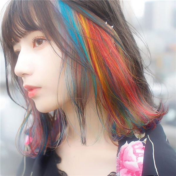 Colorful Medium Hair