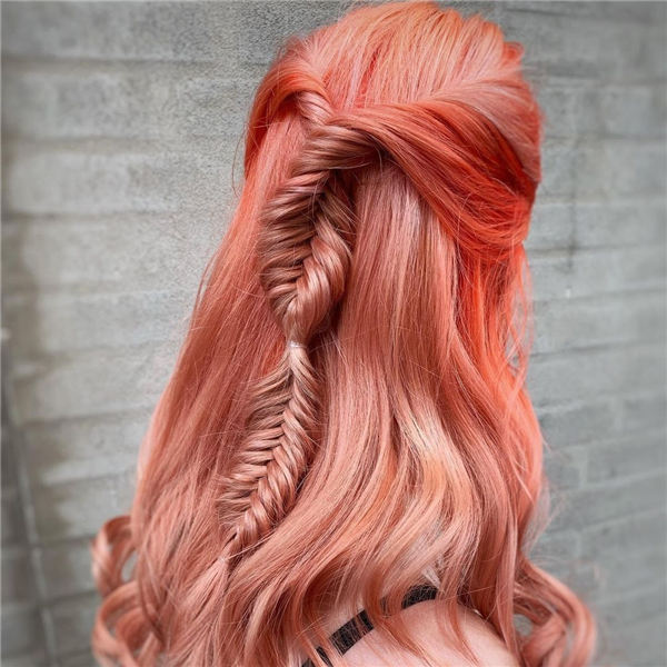 Coral Fishtail Braid
