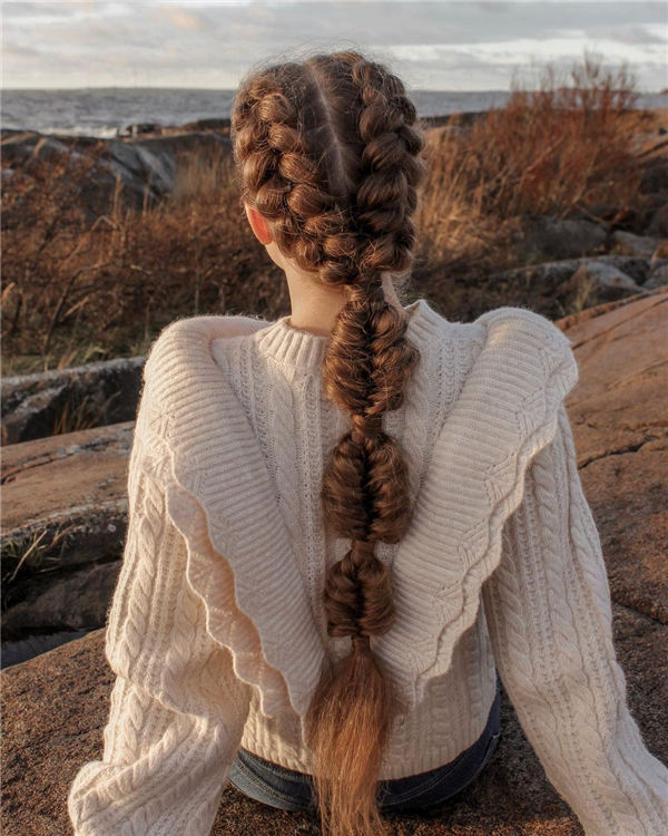 Dutch Braids Bubble fishtail 🍂