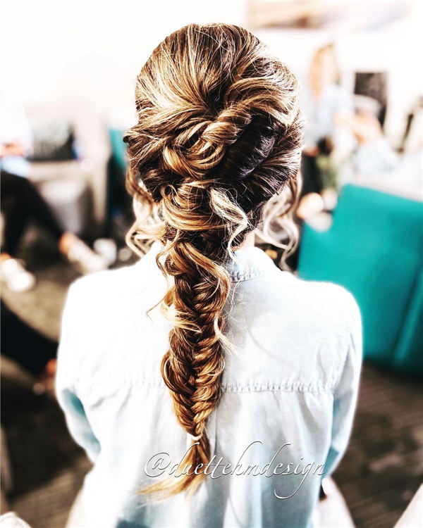 Long Fishtail Hairstyles