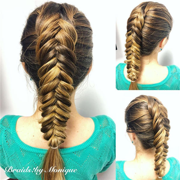 Pretty Dutch Fishtail Braid
