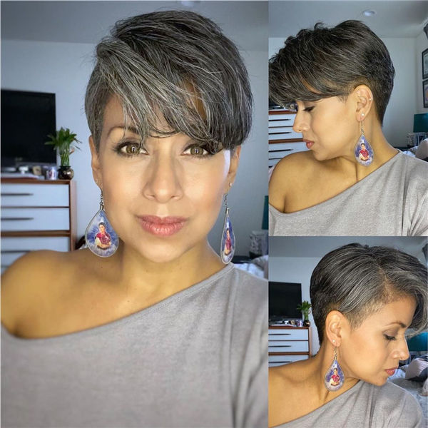 Short Grey Thick Hairstyle