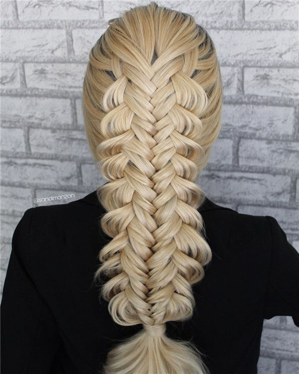 Twist Edges Fishtail Braid