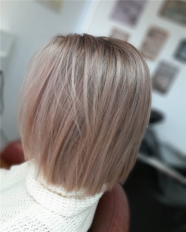 blonde and rose hair