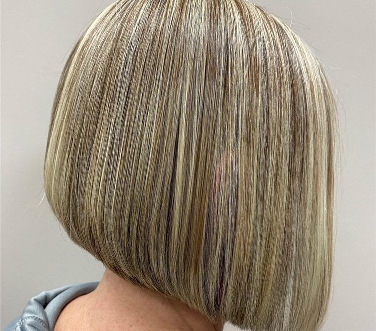 Angled Bob with Highlights