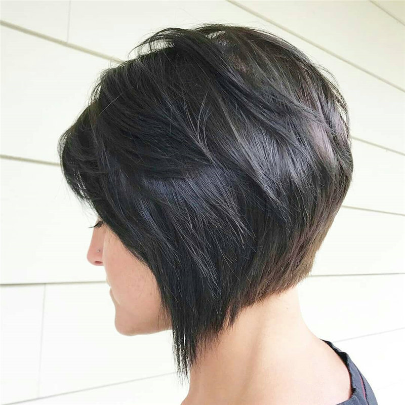 Black Inverted Bob 1