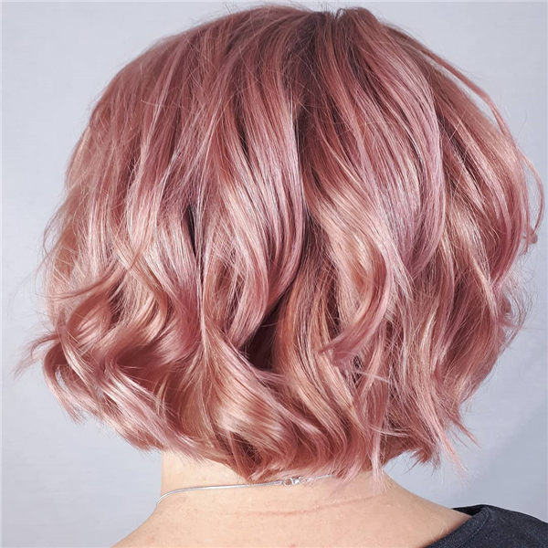 Curly Rose Gold