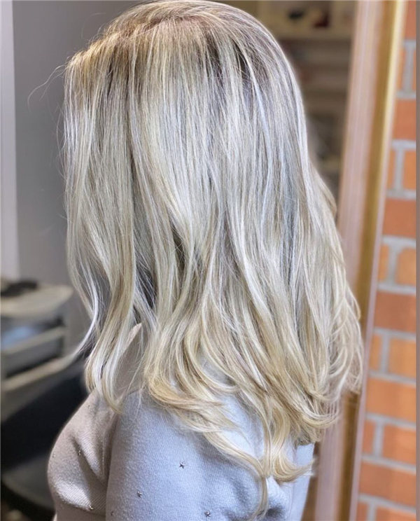 Hottest Medium Length Layered Haircuts and Hairstyles 2021 50
