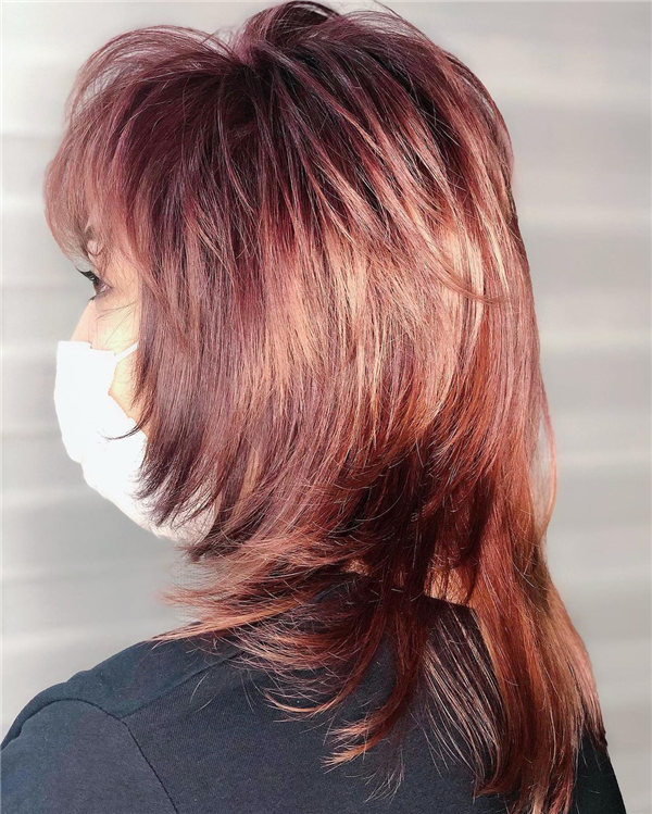 Hottest Medium Length Layered Haircuts and Hairstyles 2021 60