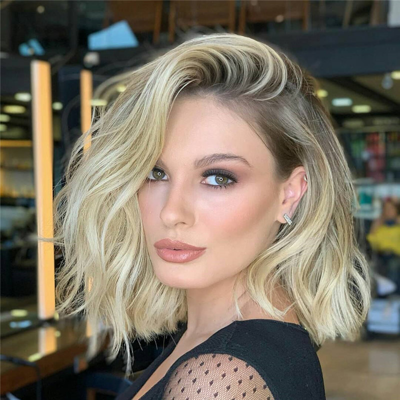 Side Parted Lob Haircut