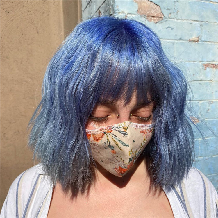 Blue Bob with Bangs 1