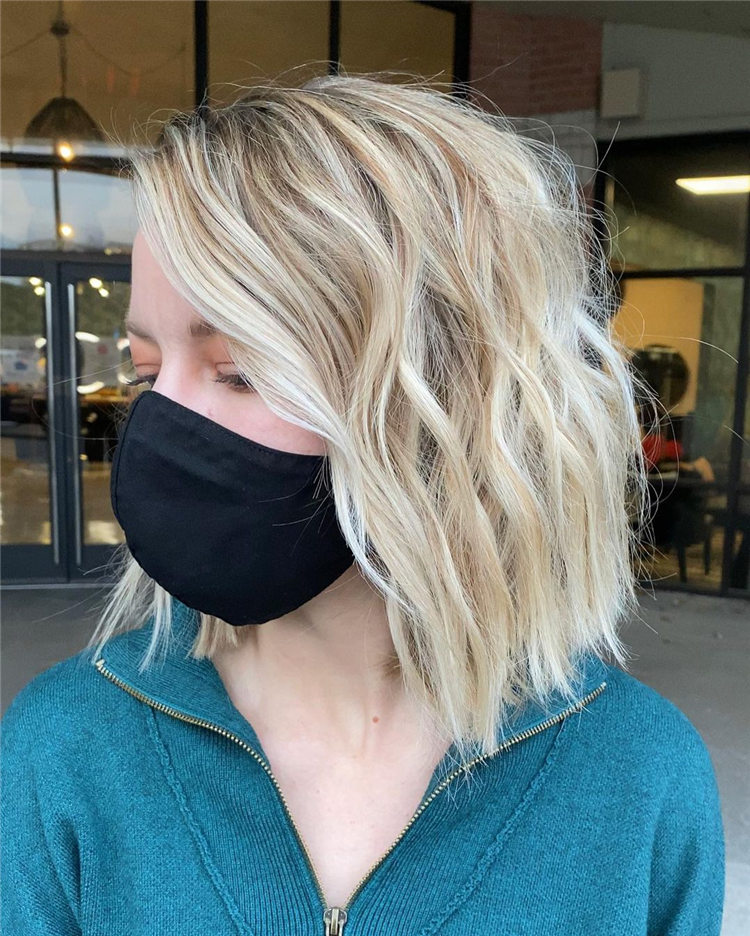 Fresh Short Blonde Hairstyles and Haircuts That Makes You Pretty 14