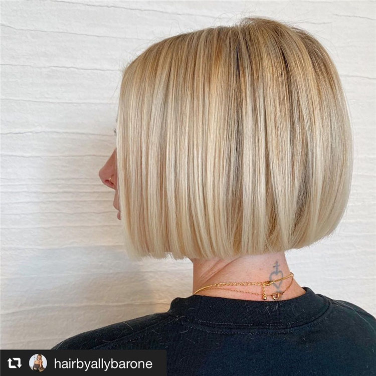 Fresh Short Blonde Hairstyles and Haircuts That Makes You Pretty 49