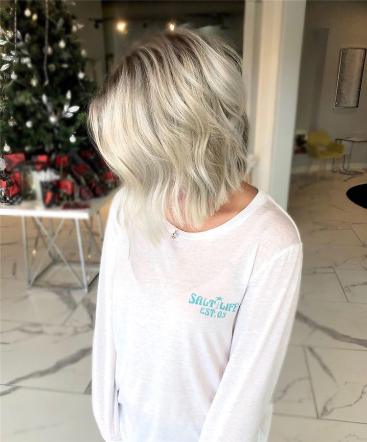 Fresh Short Blonde Hairstyles and Haircuts That Makes You Pretty 50