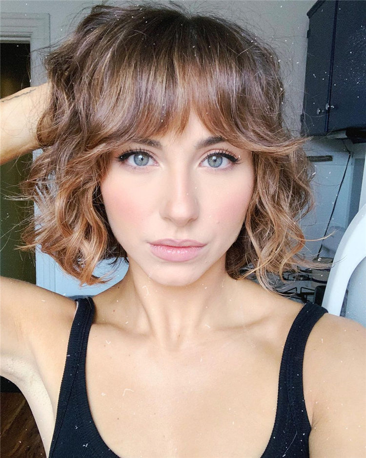 50+ Gorgeous Bob Haircuts With Bangs for 2021 - HairstyleZoneX