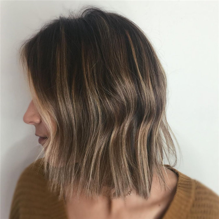 Short Brown Hair with Highlights to Look Gorgeous 18