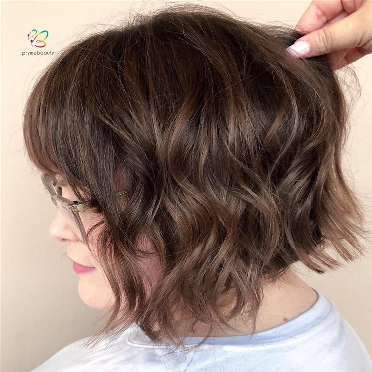Short Brown Hair with Highlights to Look Gorgeous 23