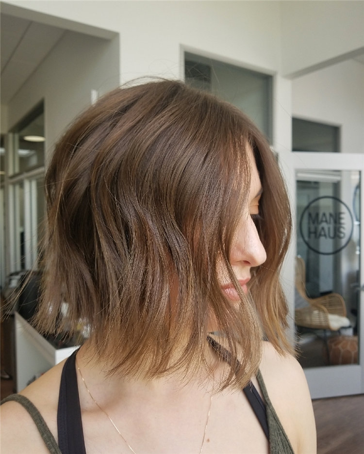 Short Brown Hair with Highlights to Look Gorgeous 28