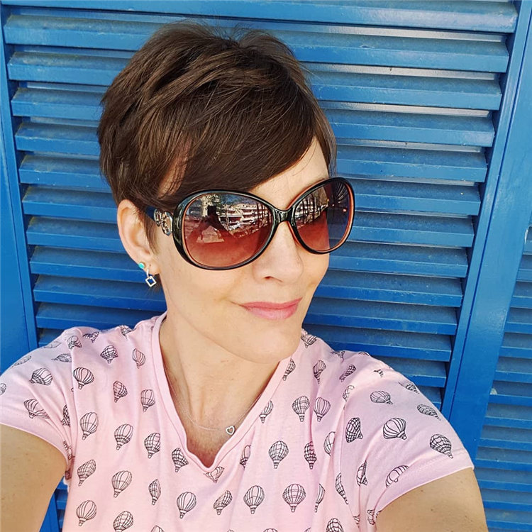 Short Brown Hair with Highlights to Look Gorgeous 32