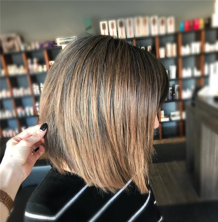 Short Brown Hair with Highlights to Look Gorgeous 38
