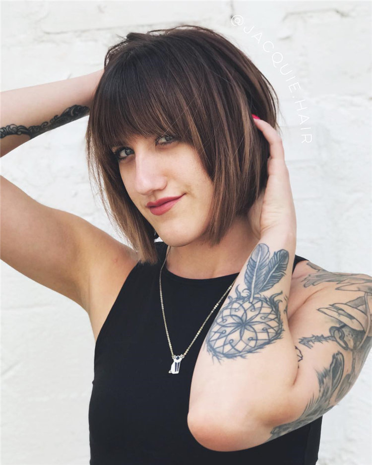Short Brown Hair with Highlights to Look Gorgeous 41