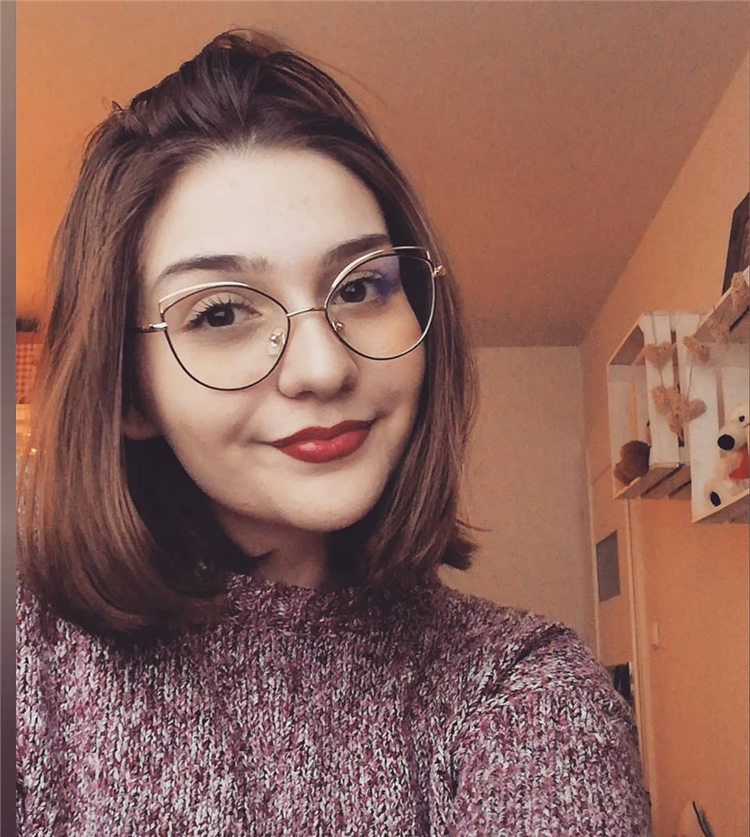 Short Hair with Glasses