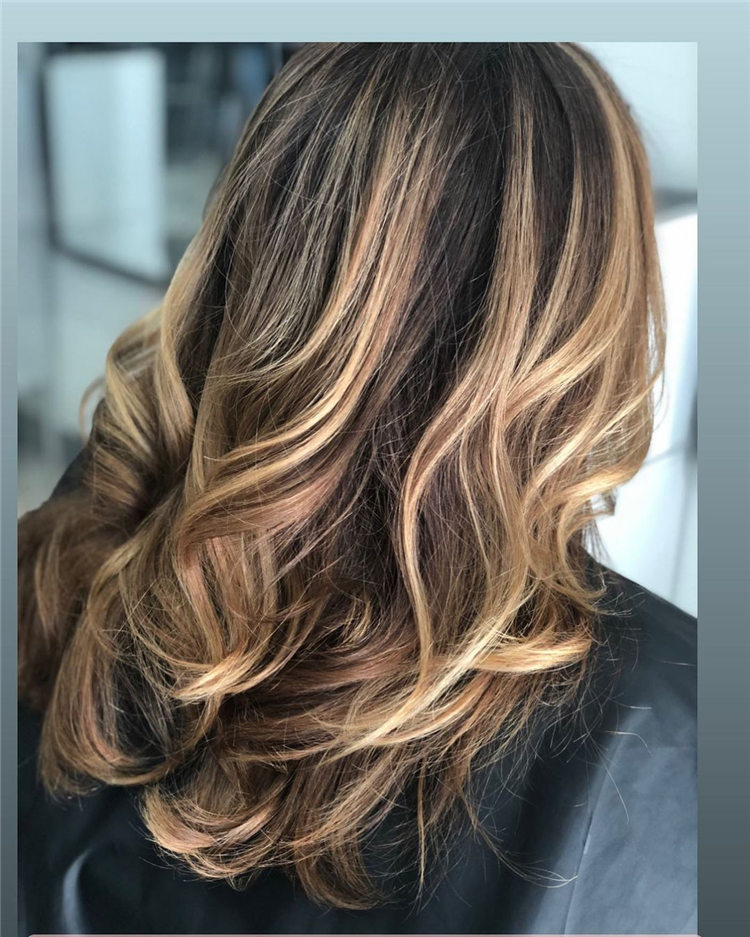 Balayage Medium Haircut