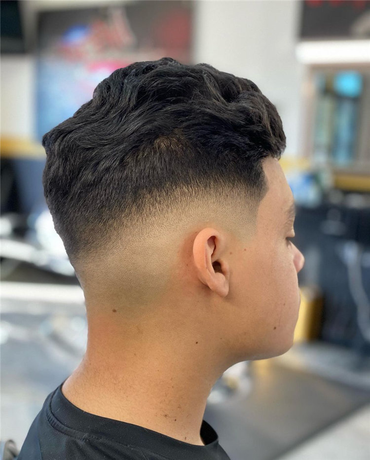 Curly Low Fade