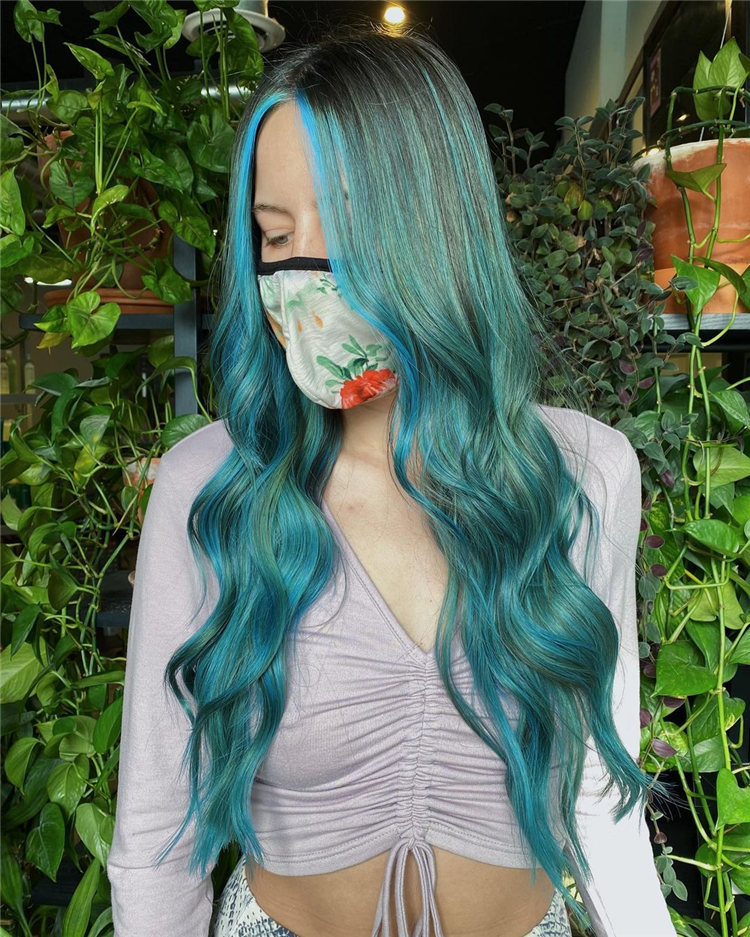 Hottest Blue Hairstyles and Color Ideas 2021 04
