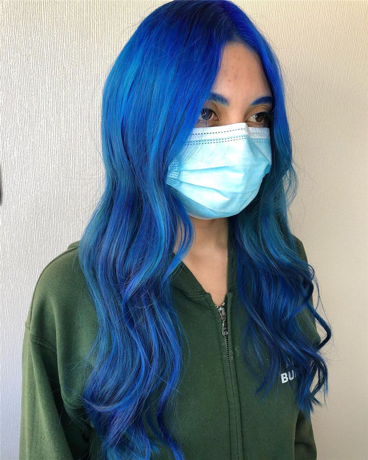 Hottest Blue Hairstyles and Color Ideas 2021 09