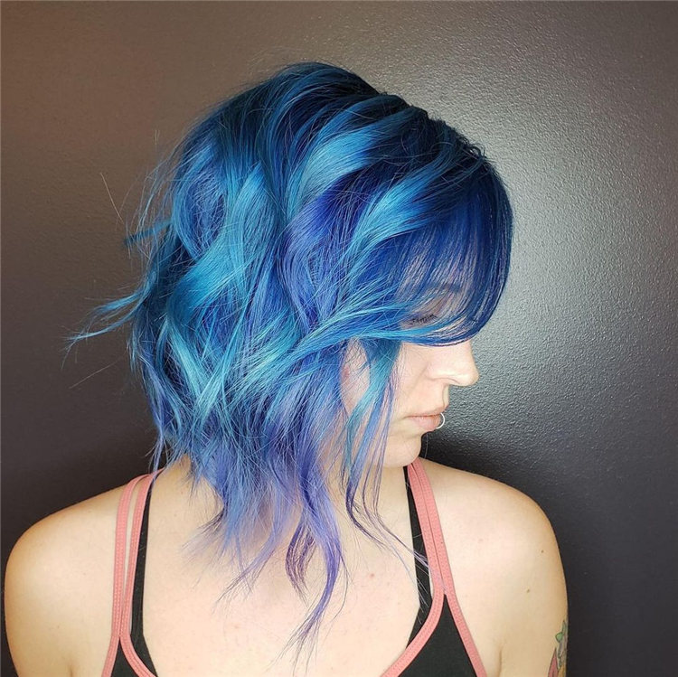 Hottest Blue Hairstyles and Color Ideas 2021 17
