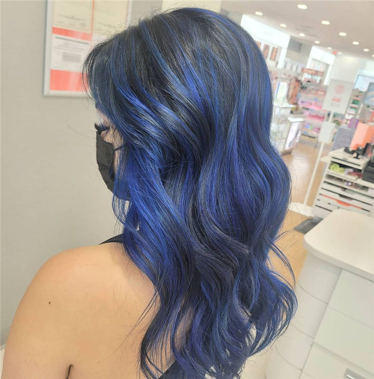 Hottest Blue Hairstyles and Color Ideas 2021 19