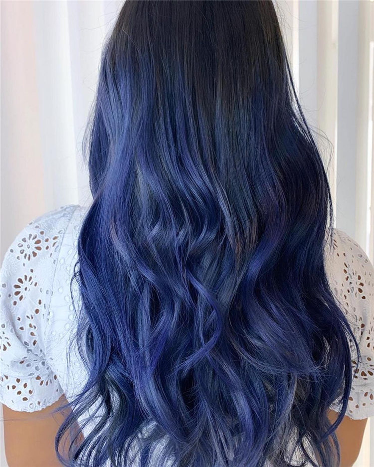 Hottest Blue Hairstyles and Color Ideas 2021 23