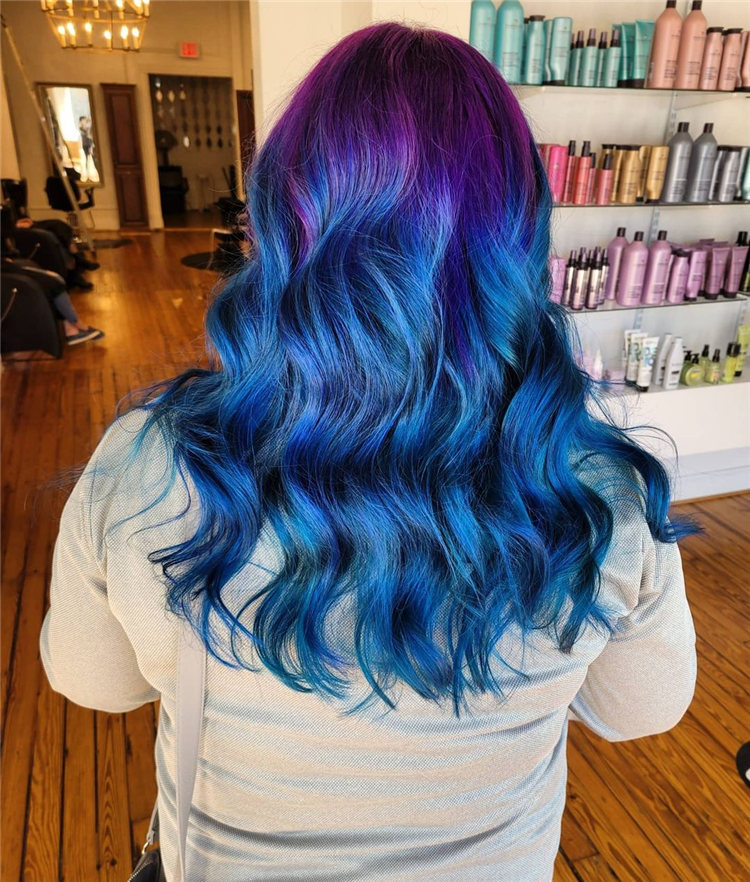 Hottest Blue Hairstyles and Color Ideas 2021 27