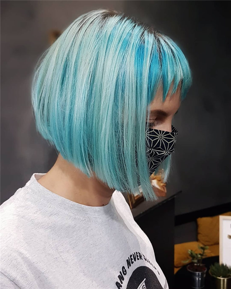 Hottest Blue Hairstyles and Color Ideas 2021 30