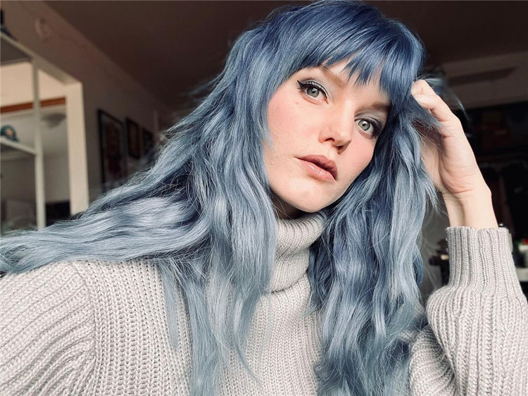 Hottest Blue Hairstyles and Color Ideas 2021 36