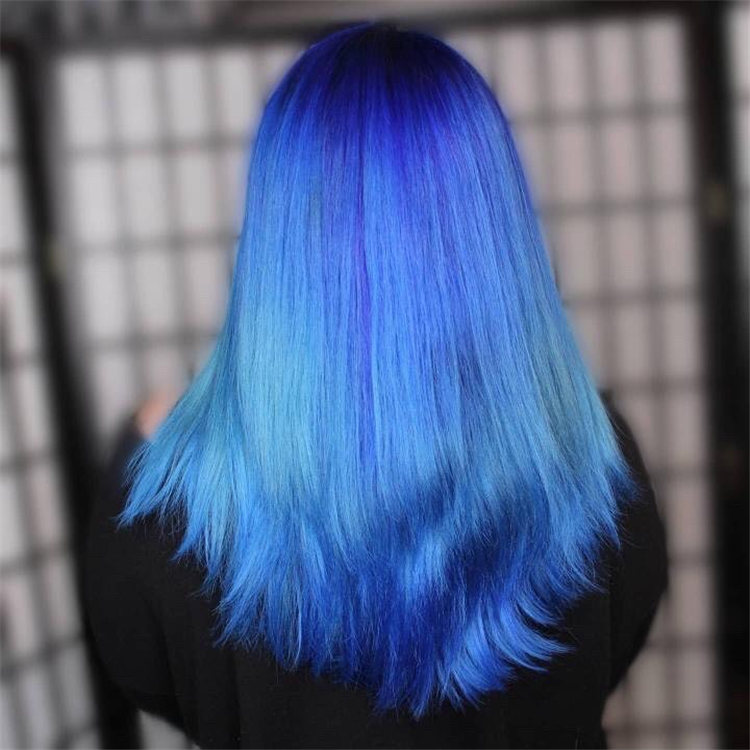 Hottest Blue Hairstyles and Color Ideas 2021 39