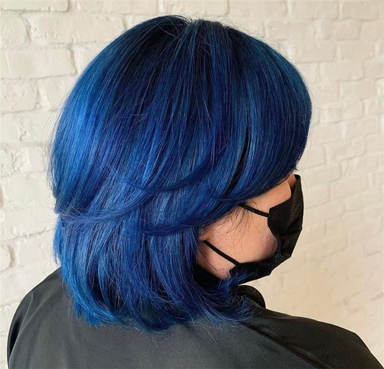 Hottest Blue Hairstyles and Color Ideas 2021 41