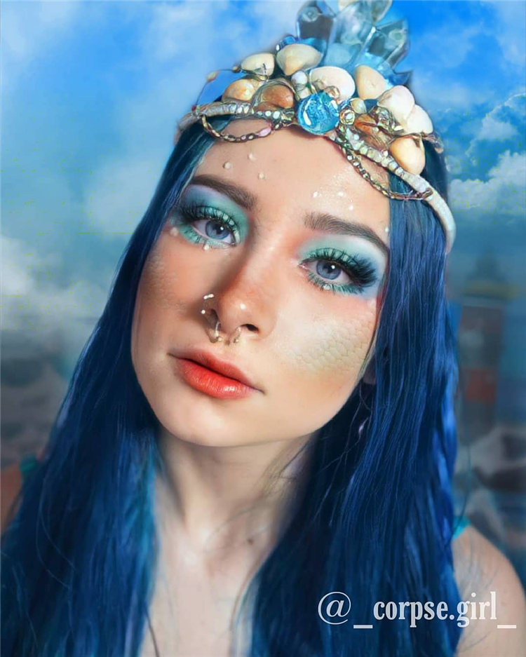 Hottest Blue Hairstyles and Color Ideas 2021 48