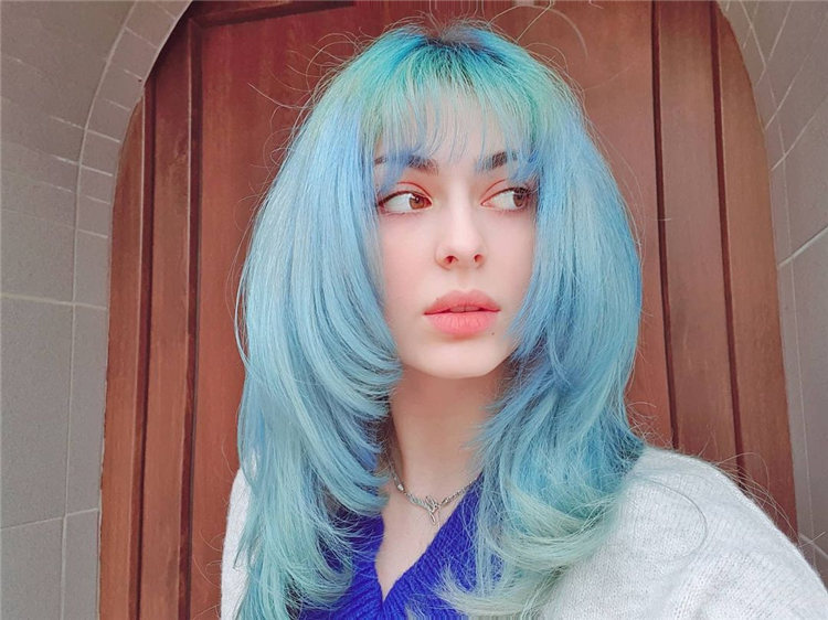 Hottest Blue Hairstyles and Color Ideas 2021 50