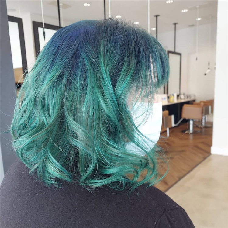 Hottest Blue Hairstyles and Color Ideas 2021 51